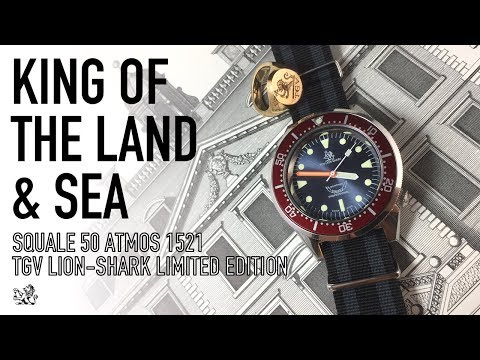 Squale TGV Lion-Shark 1521 Limited Edition - The Most Exclusive Swiss Dive Watch Under $1000