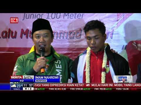 Lalu Muhammad Zohri Tiba di Indonesia