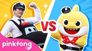 Police Car Dance Challenge | Car Song | Eeyo Eeyo Challenge | Pinkfong Songs for Children