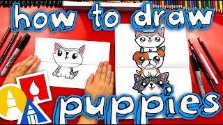How To Draw A Puppy Stack (Folding Surprise)