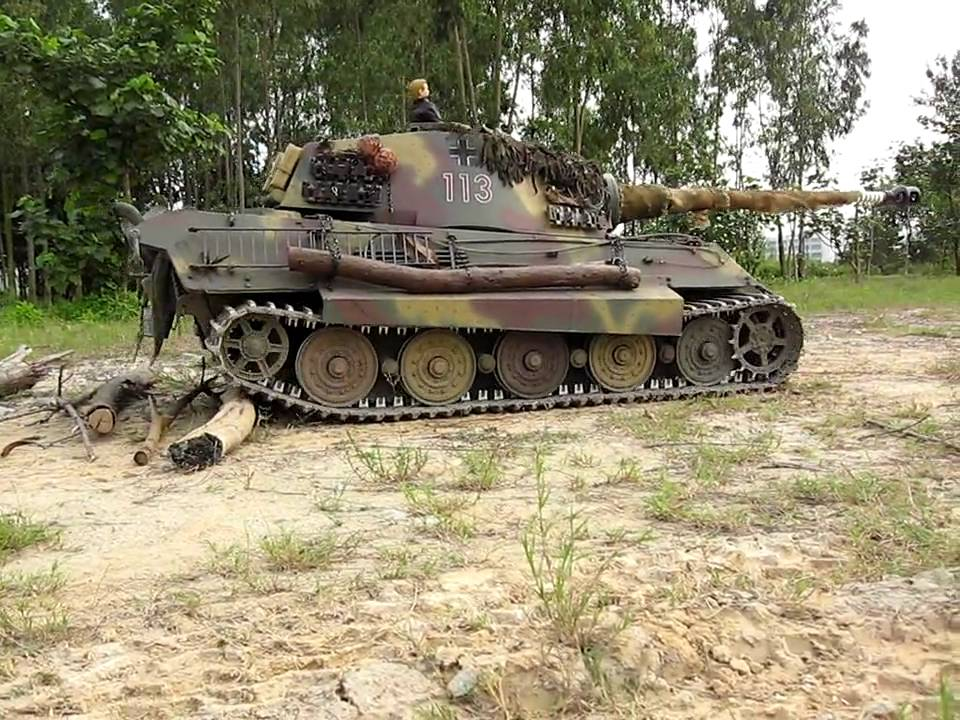 1 4 scale rc k nigstiger king tiger tank field test youtube. Black Bedroom Furniture Sets. Home Design Ideas