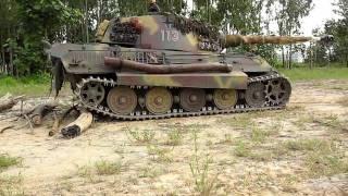 1/4 Scale RC Königstiger King Tiger Tank Field Test