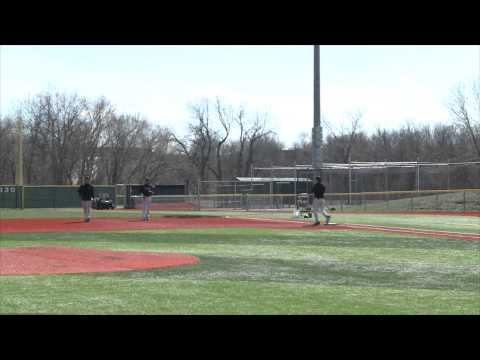 Practice with Missouri Western baseball team