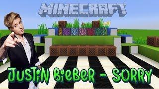 Justin Bieber - Sorry Minecraft Wireless Noteblock Song