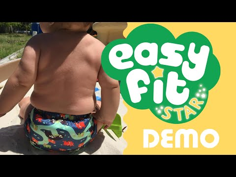Tots Bots Easy Fit Star OS Cloth Diaper Review / Demo #ClothDiapers