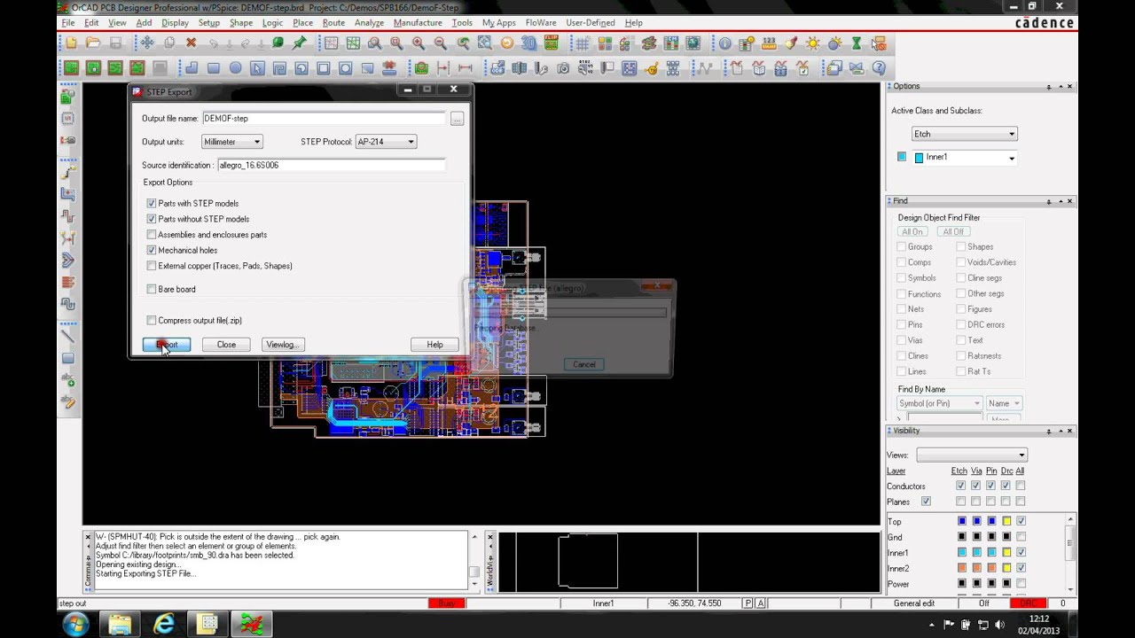 Tutorial 3D STEP Export Cadence OrCAD Allegro