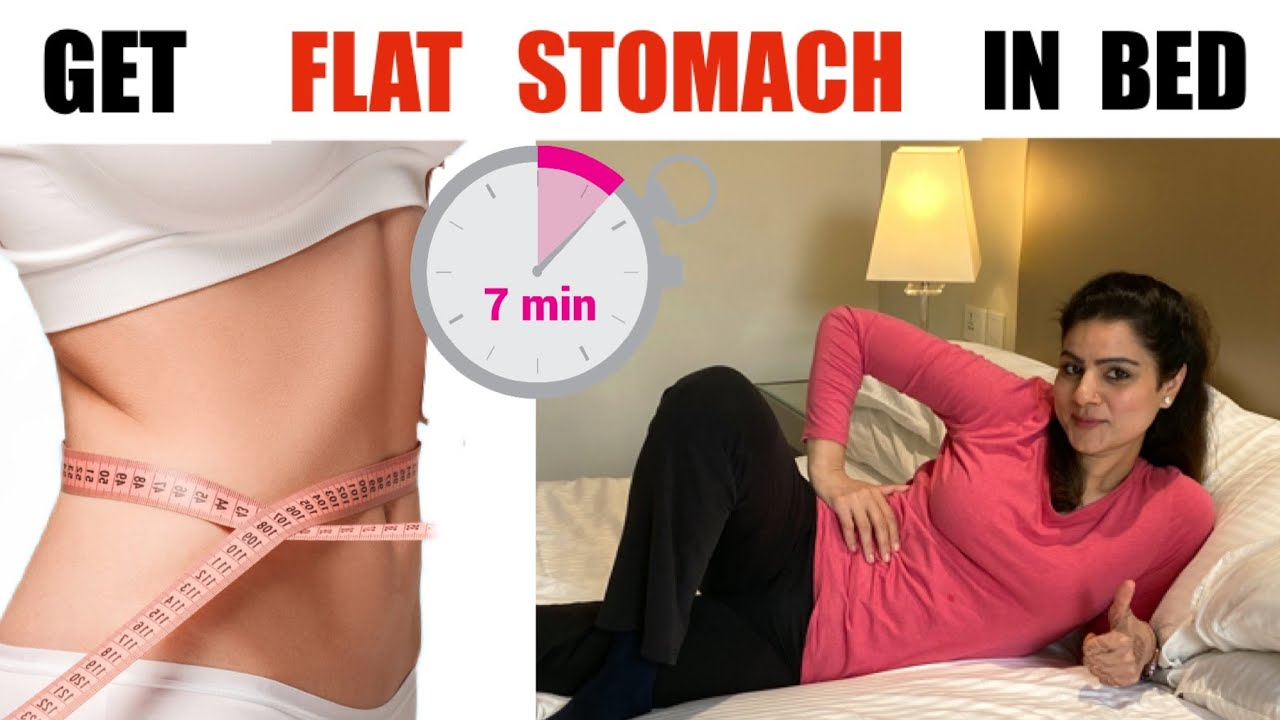 Ultimate 7 Min Belly Fat Workout in Bed |  5 Best Exercises For Flat Stomach At Home |  Bed Workout