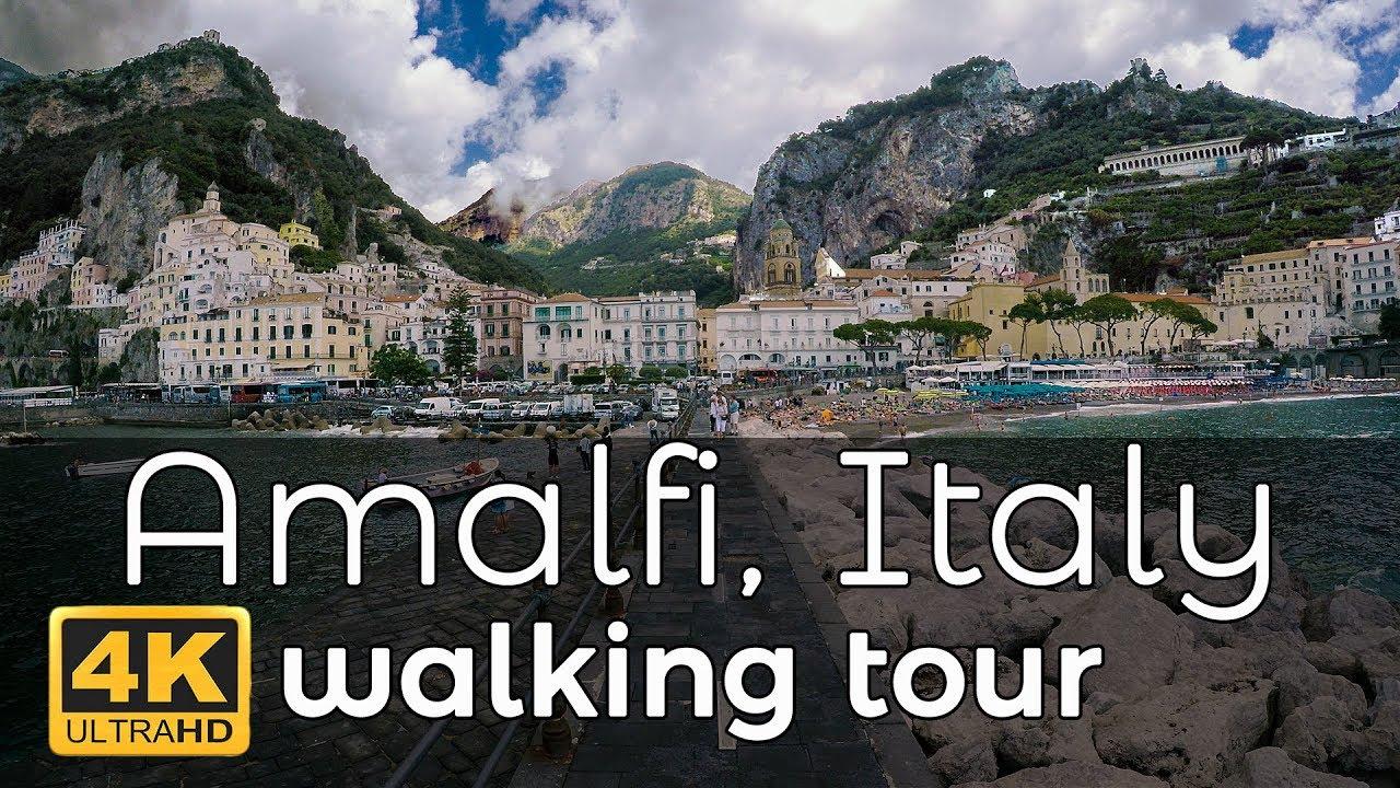 Amalfi, Italy Walking Tour in 4K