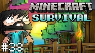 Minecraft: Survival - Part 38 - Portal Issues, Nether Rail Transport