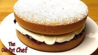 Sponge Cake With Jam And Cream - Recipe