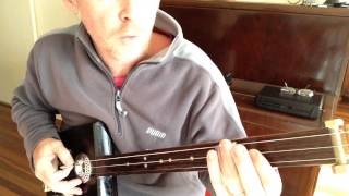 How to play Back in Black on a 3 String slide Cigar Box Guitar by Nigel McTrustry