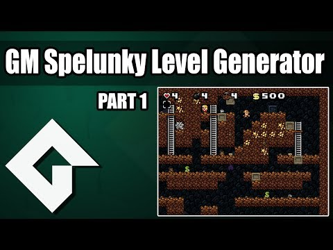 Build Spelunky Level Generator in Gamemaker Part 1