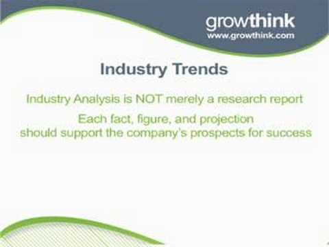 Writing The Industry Analysis Section Of Your Business Plan  Industry Analysis Example