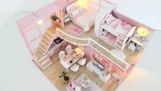 DIY Miniature Cardboard House #1    bathroom, kitchen, bedroom, living room for a family