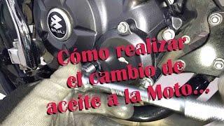 TUTORIAL - Cambio de aceite a la moto discover 125st | Mantenimiento moto Bajaj Discover 125 ST