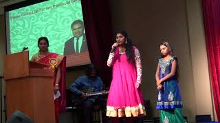 Video Jana Gana Mana (National Anthem of India) by Shreya & Anagha - WKCC Toronto, 2017 download MP3, 3GP, MP4, WEBM, AVI, FLV Juli 2018