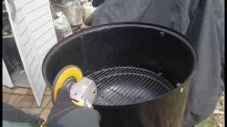 weber smokey mountain notching for thermometer