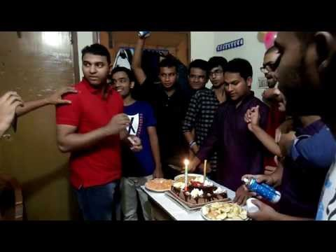 Funny Birthday Celebration of our friend Nahid with Mithun, Mehedi, Roman & me.