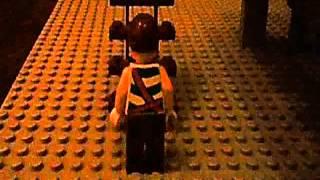 映画『るろうに剣心』の決闘シーン(韓柳の屋敷)にいたく感動した息子(12才)が、レゴとDSのコマ撮りで再現していました。