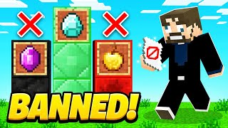 BANNING ITEMS in Crazy Craft (Minecraft)