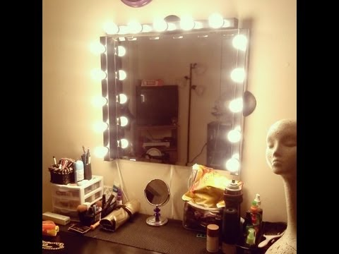 DIY : Vanity Girl Inspired Hollywood Mirror - YouTube