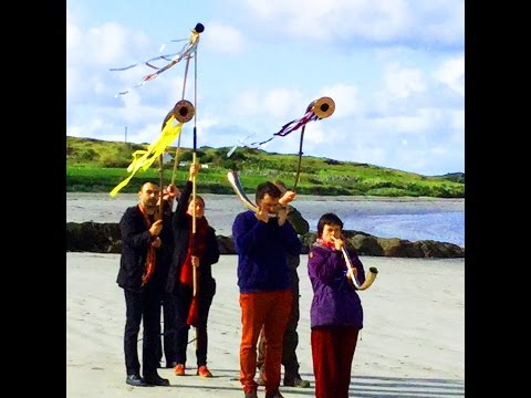 Wild Atlantic Way Ancient Music of Ireland Procession of Celtic and Bronze Age Trumpets