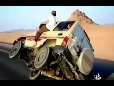 Amazing Arab Drifting Car On Two Wheels
