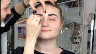 Окрашивание бровей. Коррекция и окрашивание бровей стойкой краской. Юлия Рубцова