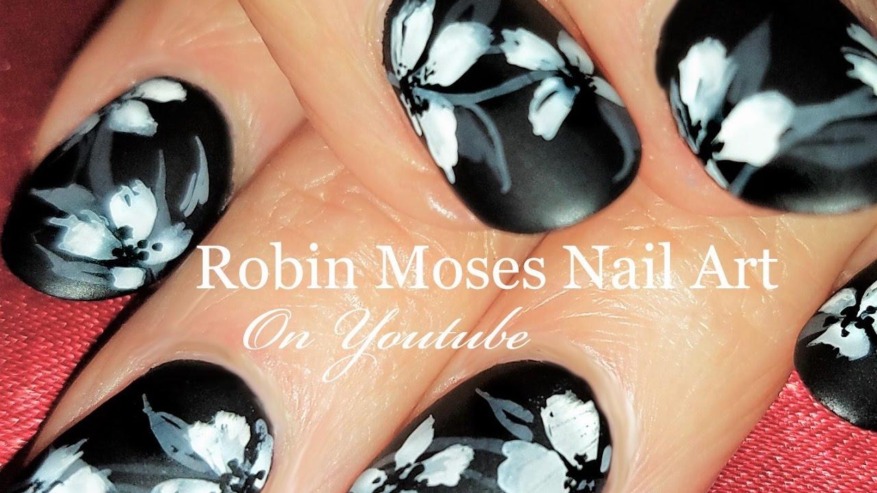 Show Me Nail Designs White Flower Nails Elegant Floral Nail Art