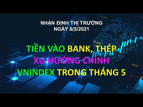 Chứng khoán hôm nay|Nhận định thị trường 5/5: TIỀN VÀO BANK, THÉP. XU HƯỚNG VNINDEX TRONG THÁNG 5