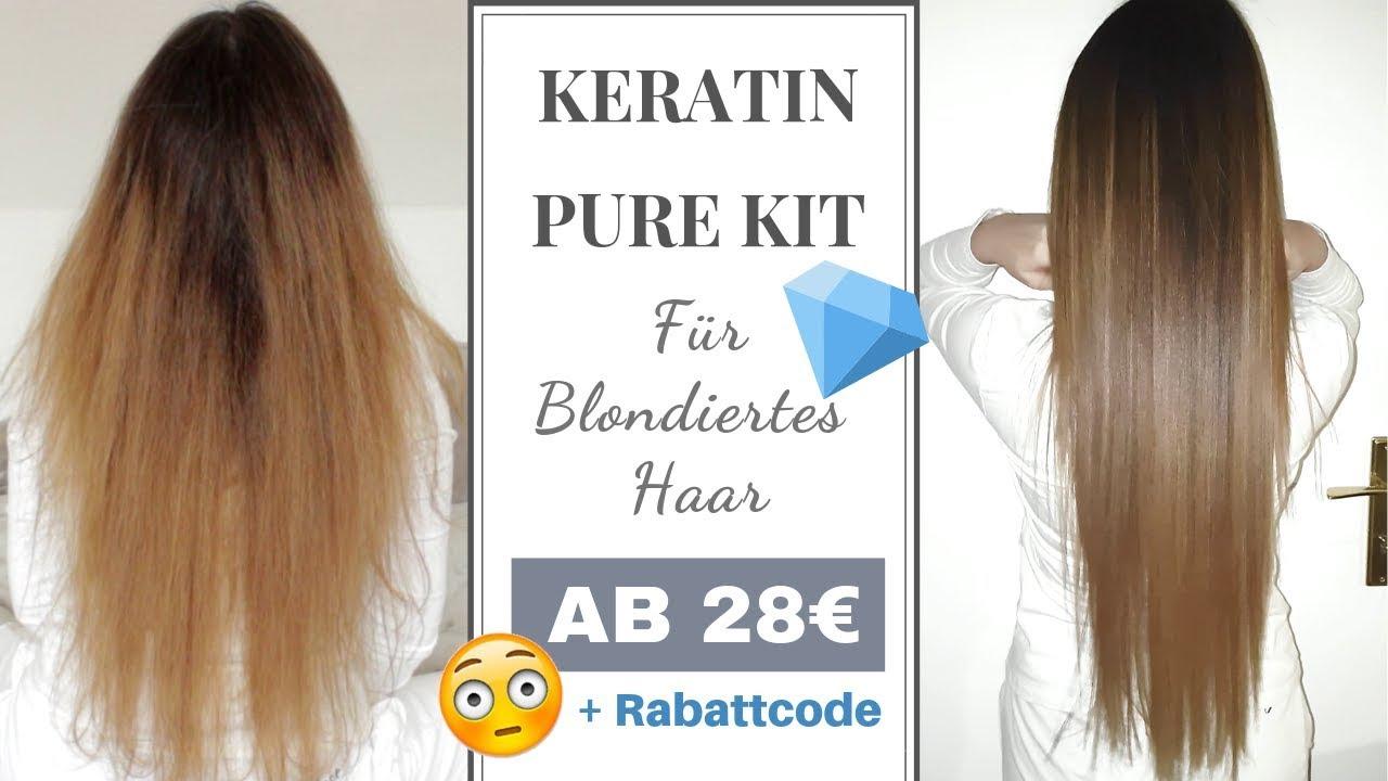 Keratin Behandlung Für Blondiertes Und Gefärbtes Haar Haarglättung