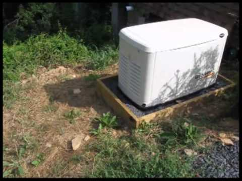 Generac Guardian 14kW generator and propane tank.