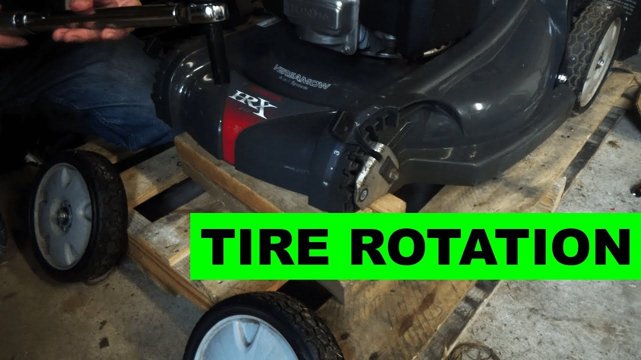 How To Rotate Your Lawn Mower Tires Honda Hrx217vka