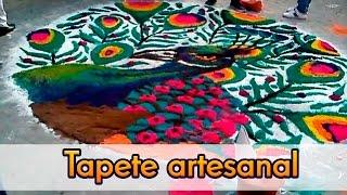 Tapete artesanal en Santa Rosa Xochiac   ArtGio