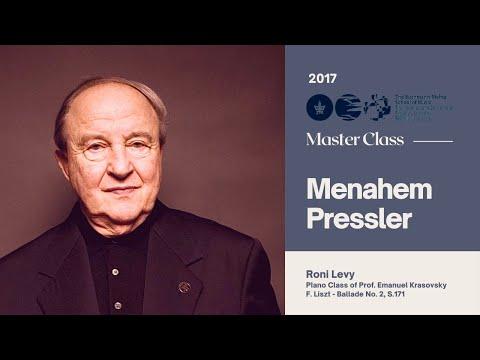 Menachem Pressler - Master Class - Piano -Roni Levy