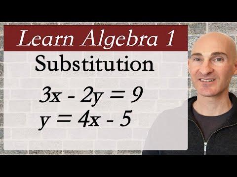 Learn Algebra 1 Substitution Method
