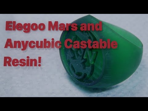 Elegoo Mars and the Anycubic Castable Resin, Settings and Results