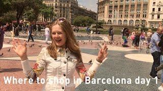 Barcelona shopping 2017 - where to shop in Barcelona - La Rambla - high street shopping
