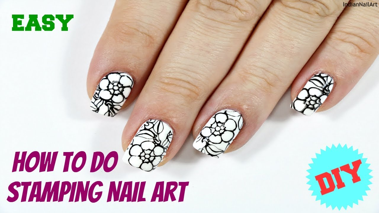 How To Do Basic Stamping Nail Art For Beginners