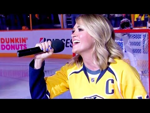 Carrie Underwood SURPRISES Husband with NHL Playoff National Anthem Performance!