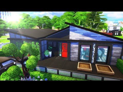 MID-CENTURY MODERN FAMILY HOME || The Sims 4: Speed Build thumbnail