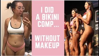 Bikini Competition with No Makeup on Stage!! Vegan Bodybuilder