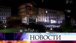 Премьер-министр Сербии назвала удар авиации НАТО по белградскому телецентру варварским актом.