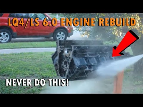 How To Clean An Engine Block At Home - Never Water!