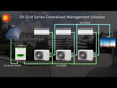 Ac dc Commercial Central Solar Air Conditioner   Buy Solar Cool