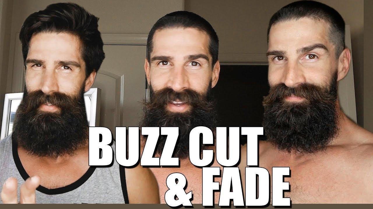 BUZZ CUT AND FADE WITH BEARD (DIY)