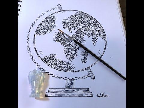 globe | kcdoodleart