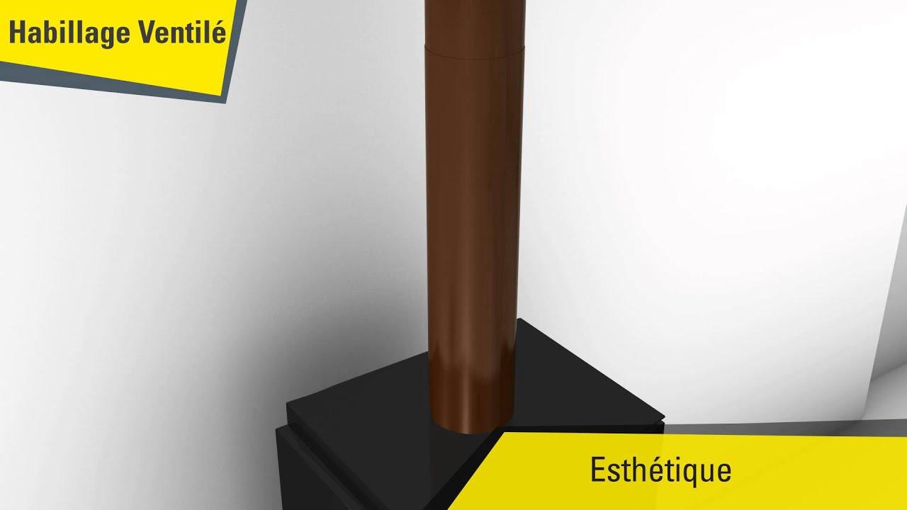 Habiller Un Conduit De Cheminée habillage ventilé pour conduits de raccordement poêle à bois