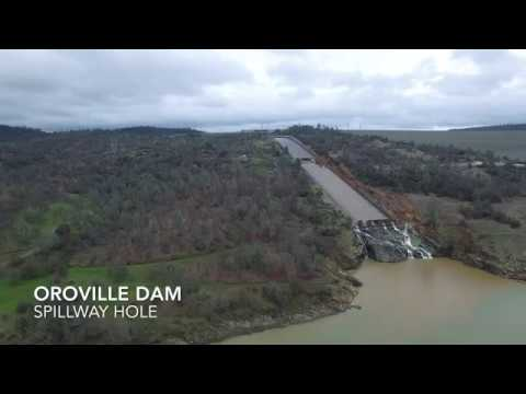 Oroville Dam - Hole in the Spillway!