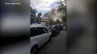 حريق بـ'معهد أبحاث السرطان' في بريطانيا(فيديو وصور)